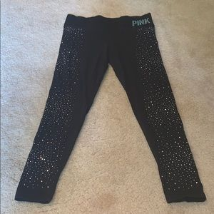 PINK Rhinestoned Leggings